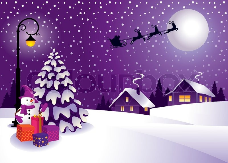 christmas in the country stock vector colourbox - Christmas In The Country
