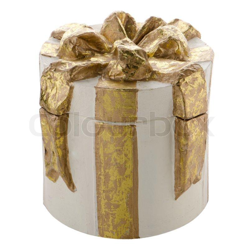 Christmas decorative white gift box stock photo colourbox negle Image collections