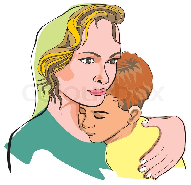 Mother and son, illustration | Stock Vector | Colourbox