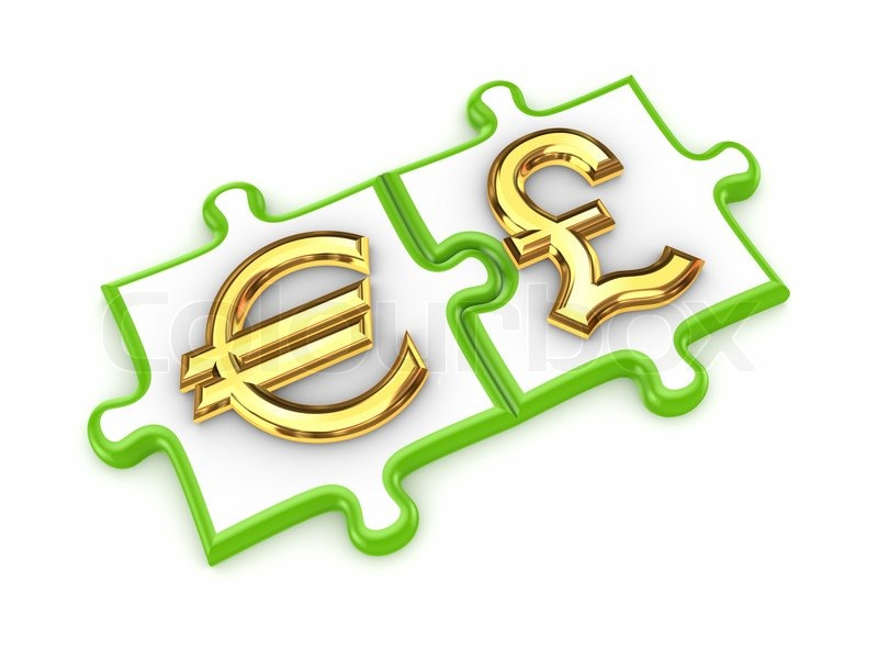 image puzzles with euro and pound sterling symbols