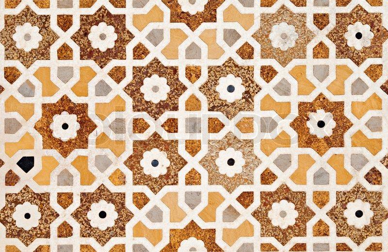 Detail Of Decorating The Taj Mahal Stock Photo Colourbox