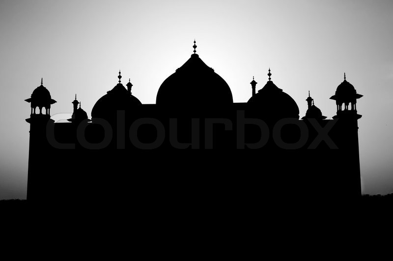 Taj Mahal silhouette  Stock Photo  Colourbox