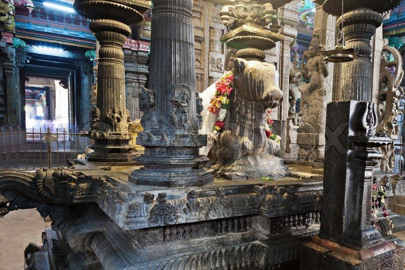 Inside Meenakshi Temple Stock Photo Colourbox