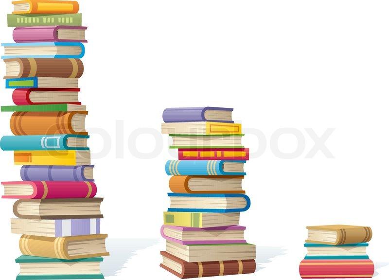 book stacks stock vector colourbox rh colourbox com Eiffel Tower Clip Art Castle Tower Clip Art