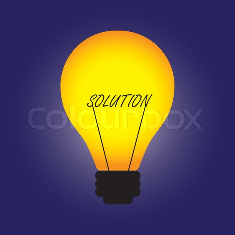 Idees And Solutions: Conceptual Illustration Of Bulb With Filament Replaced By