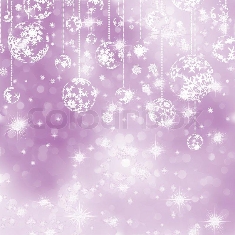 Elegant Purple Christmas Background EPS 8 Stock Vector