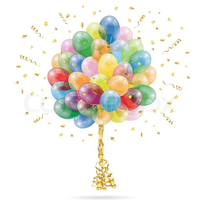 Geburtstag Ballons | Vektorgrafik | Colourbox