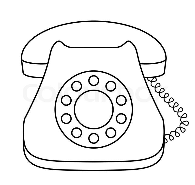 phone dial desktop  contour