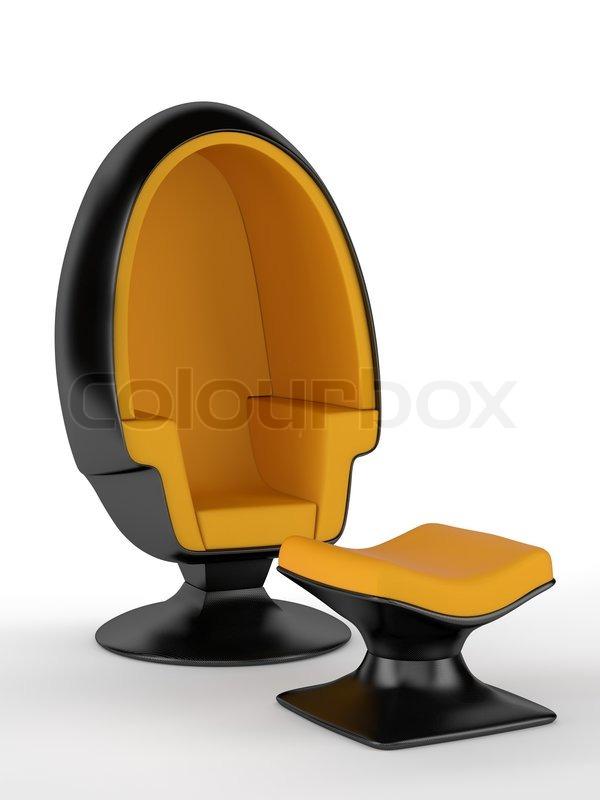 fiber furniture. Modern Furniture Carbon Fiber Chair, Stock Photo