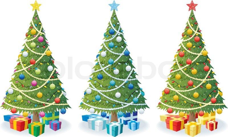 weihnachtsbaum geschenke vektorgrafik colourbox. Black Bedroom Furniture Sets. Home Design Ideas