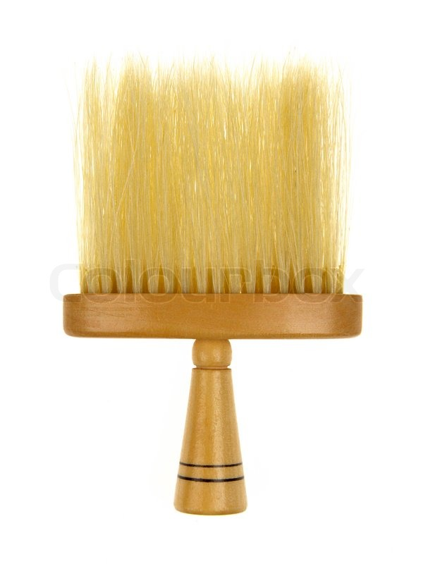 Hair brush for barber isolated on a white background ...