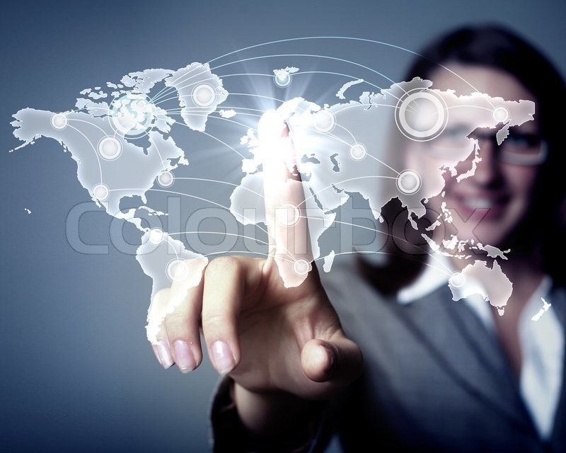 Stock image of 'Internet concept of global technology'