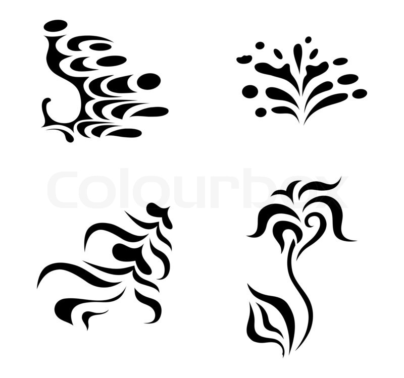 Abstract Design Elements Tattoo Stock Photo Colourbox