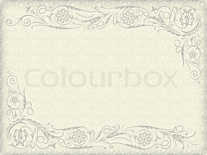 Ornamental floral wedding background frame with swirling ornamental floral wedding background frame with swirling decorative elements vector junglespirit Image collections