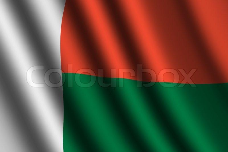 The Madagascar Flag Stock Photo Colourbox - Madagascar flag