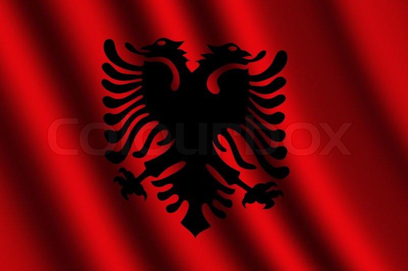 Albania Flag To Colour