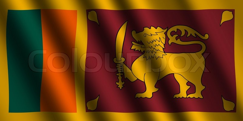 Stock Image Of The Sri Lanka Flag