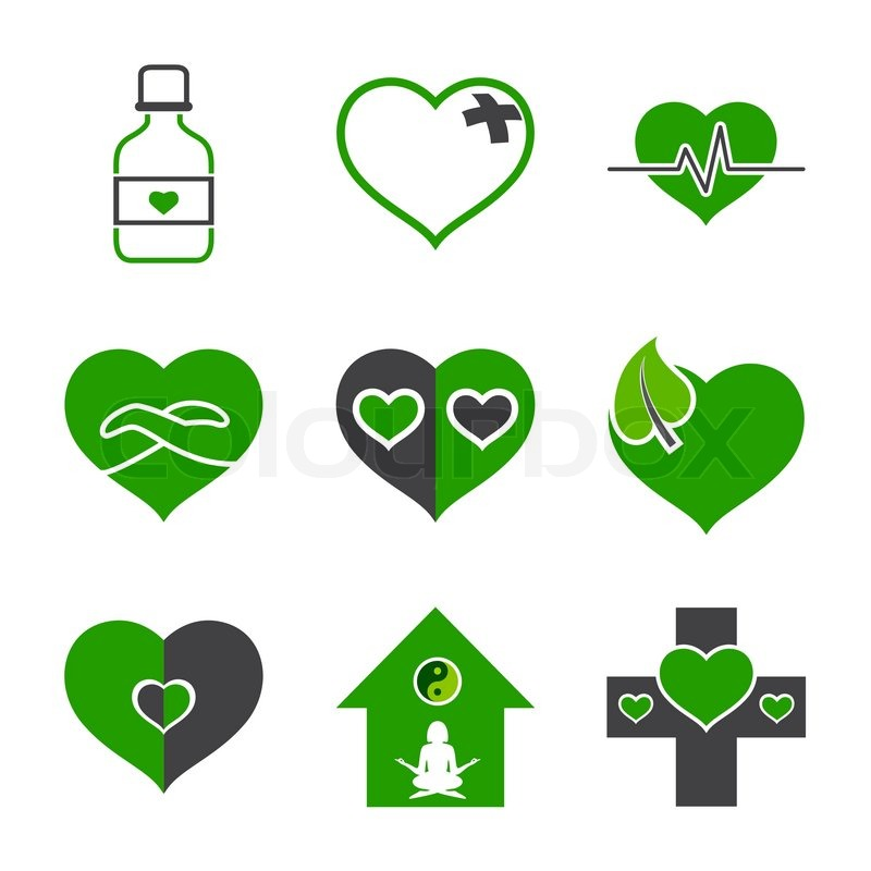 Health Care And Ecology Symbols Stock Vector Colourbox