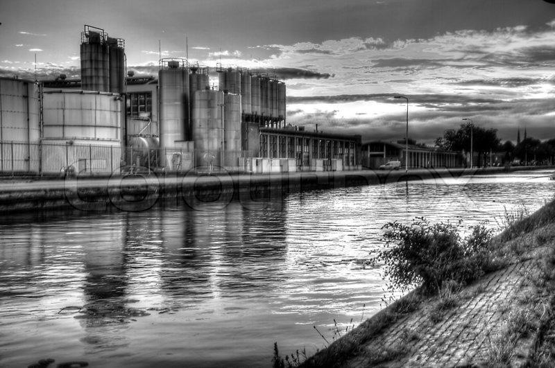 Industrial hdr black white stock photo colourbox