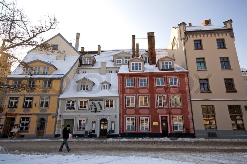 Old Buildings At The Historic Town In Riga Latvia