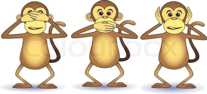 Three Wise Monkeys Drawings Three Wise Monkey