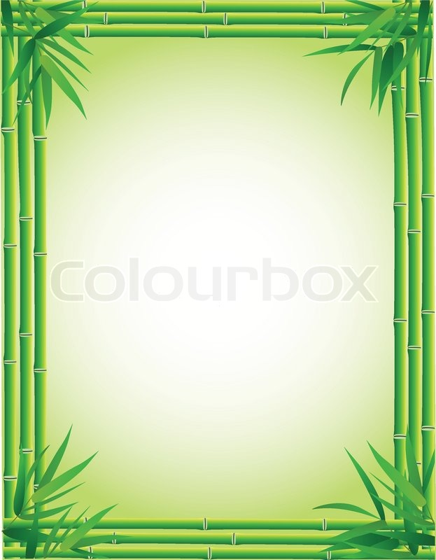 bamboo background stock vector colourbox