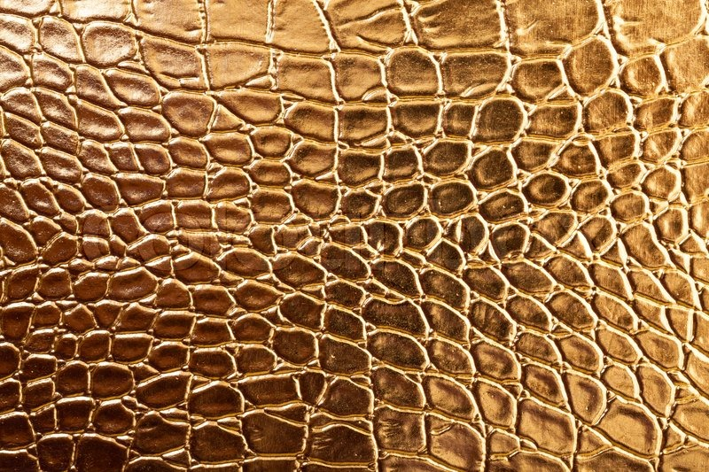 Tint Golden Crocodile Skin Texture Stock Photo Colourbox