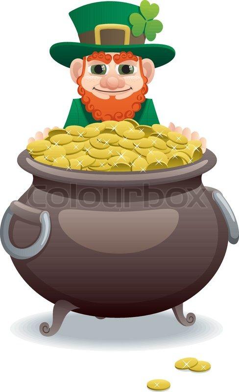 leprechaun and pot of gold stock vector colourbox cauldron clip art harry potter witch cauldron clipart
