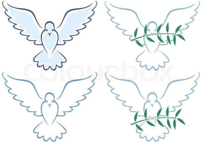 Peace Dove   Stock vector   Colourbox