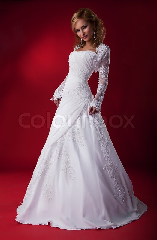 Sensual fashion model bride blonde in wedding dress posing stock sensual fashion model bride blonde in wedding dress posing stock photo colourbox junglespirit Image collections