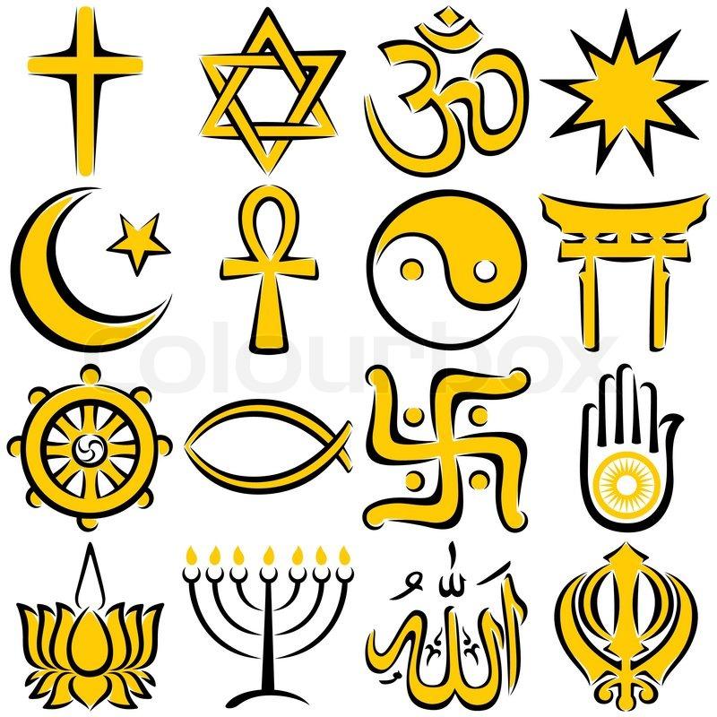 Religious Symbols Stock Vector Colourbox