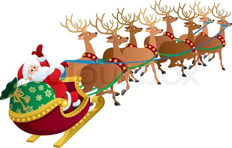 Santa on White | Stock Vector | Colourbox