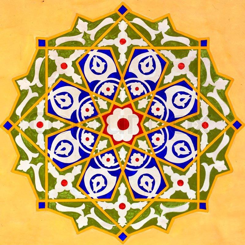 Islamic art 09 Stock Photo Colourbox