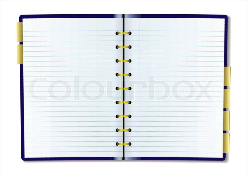 Leere Tagebuchseite | Vektorgrafik | Colourbox