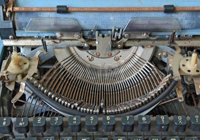 Aging printed type-writer, stock photo