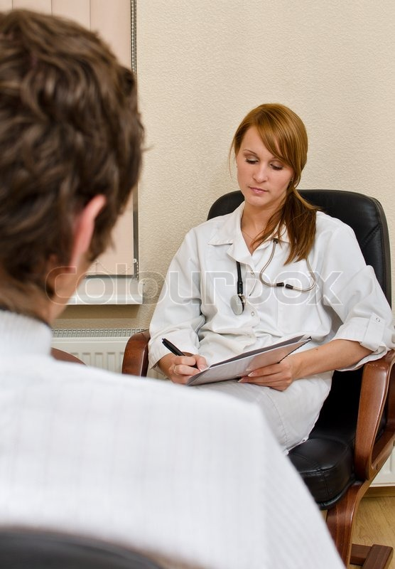 Male patient visiting his psychologist | Stock image ...