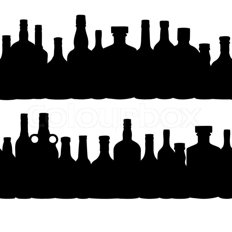 vector illustration silhouette alcohol bottle seamless martini glass clip art free martini glass clip art image
