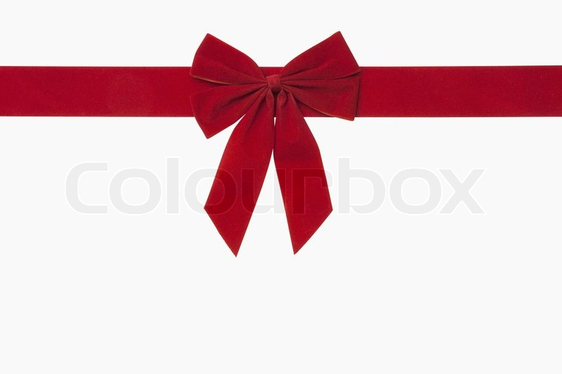 Red Christmas Bow | Stock Photo | Colourbox