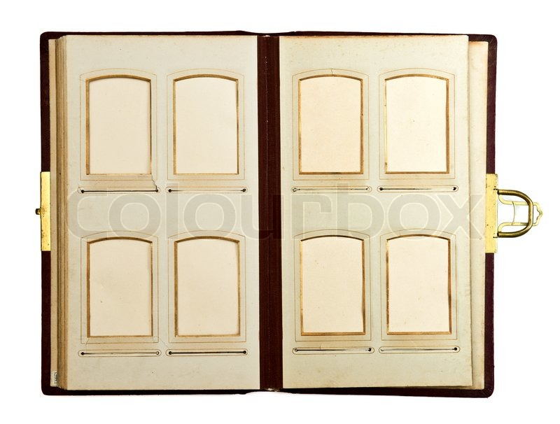 open antique empty photo album pages stock photo colourbox