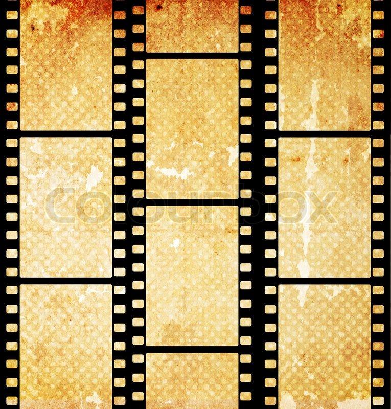 Old Film Reel Texture Vintage background wit...