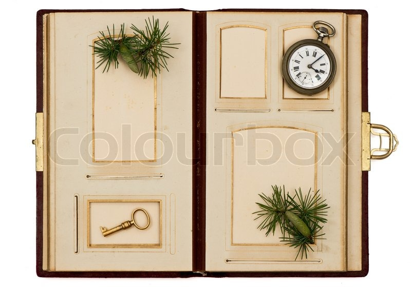 antique photo album with christmas decoration stock photo colourbox. Black Bedroom Furniture Sets. Home Design Ideas