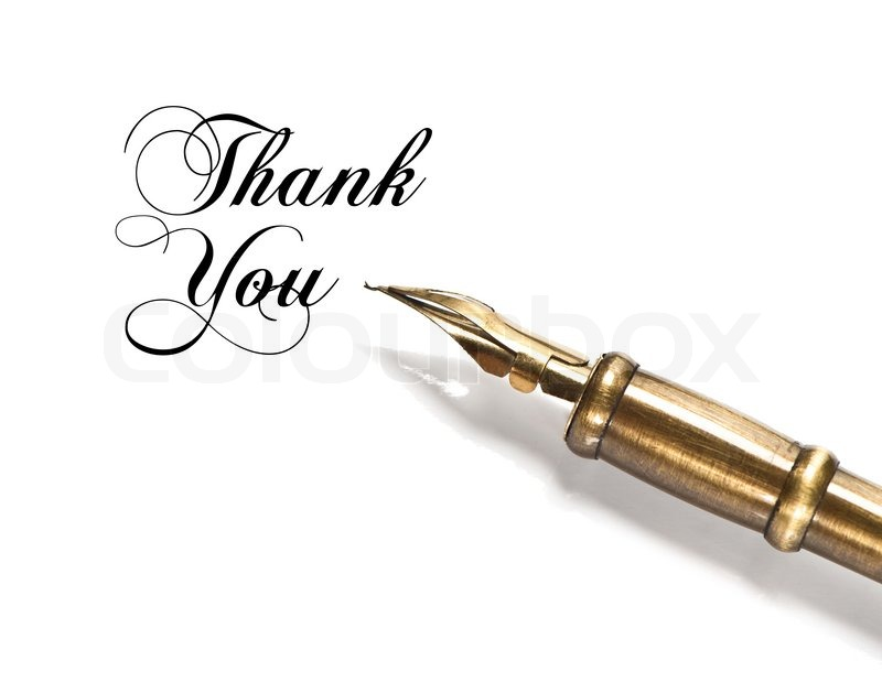 Thank You Vintage Ink Pen Best Friend Written Calligraphy