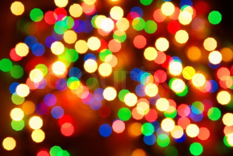 Abstract christmas lights as background on black | Stock Photo ...