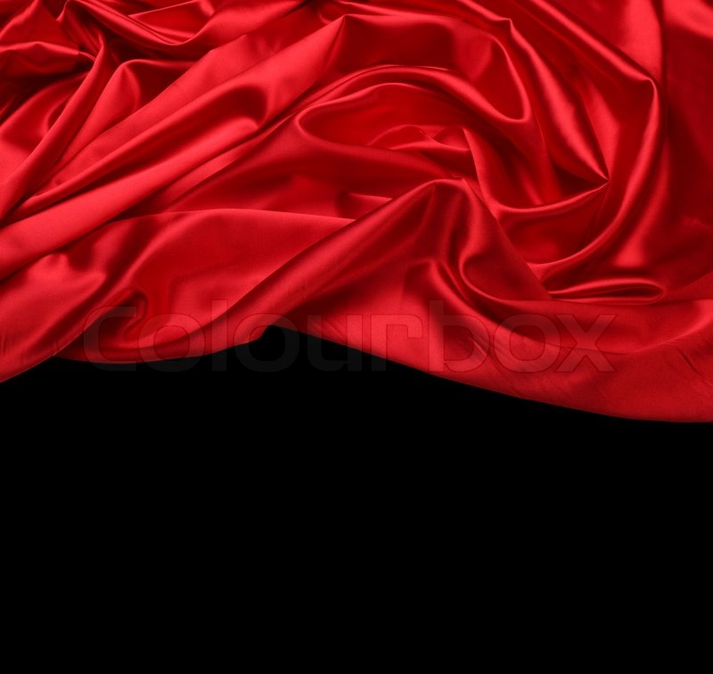 Red Silk Fabric Background Stock Photo Colourbox