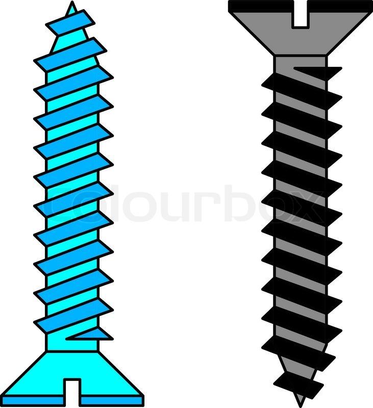 Image Gallery screw vector