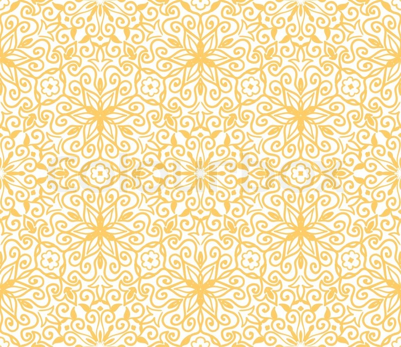 yellow floral pattern - photo #7