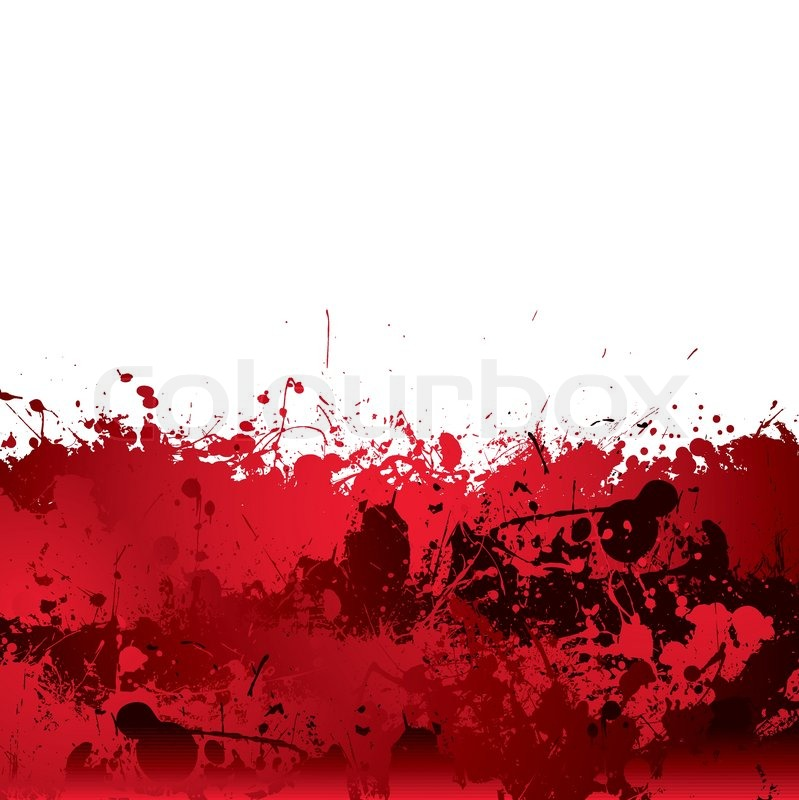 Red blood splatter background with     | Stock vector | Colourbox