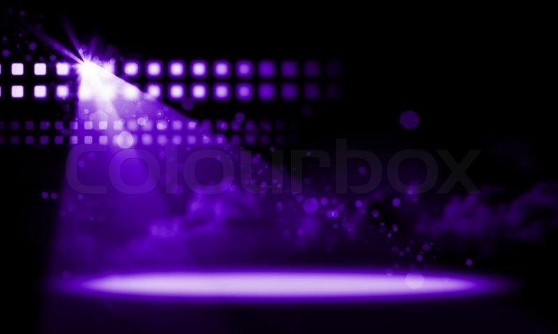 Stage Lights Illustration Stock Photo