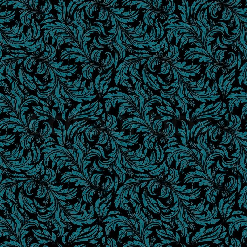 Seamless vintage wallpaper floral pattern retro wallpaper vector