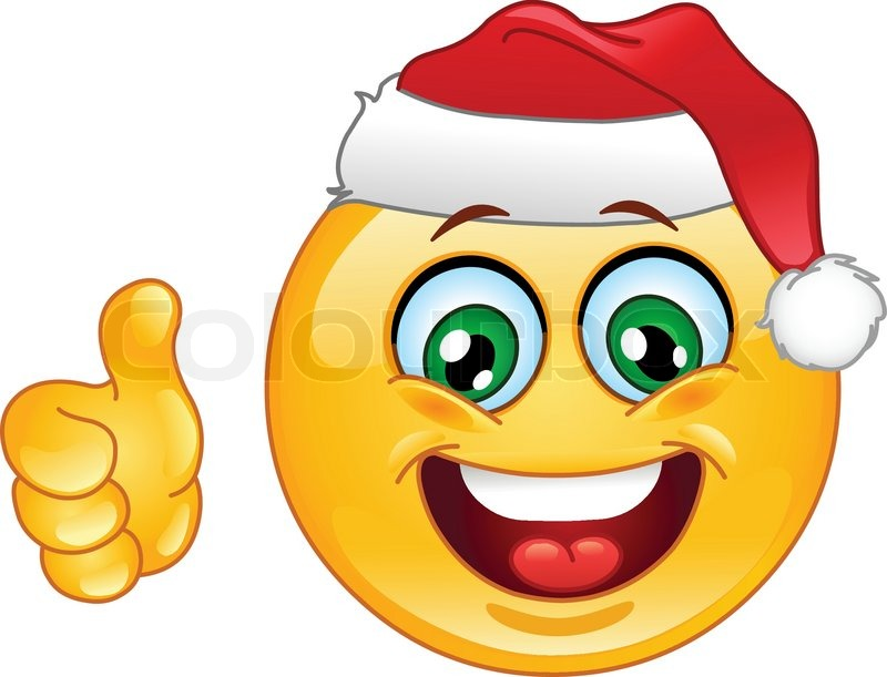 Christmas emoticon with thumb up vector colourbox